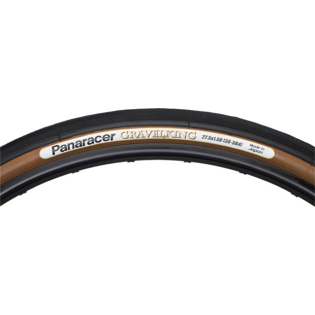 "Panaracer GravelKing Slick TR 27.5"" (650b) Tire - 27.5 (650b) x 38mm (Black Tread/Brown Sidewall)"