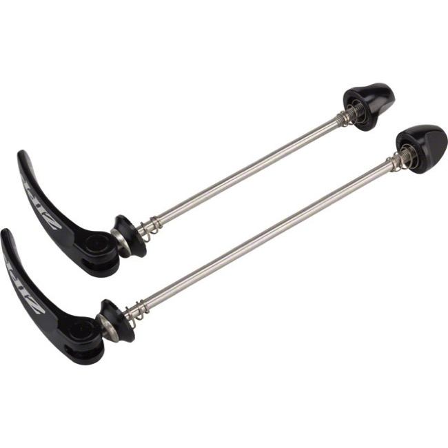 Zipp Tangente Quick Release Wheel Skewers - 100mm/130mm Stainless (Black w/Silver Logo)