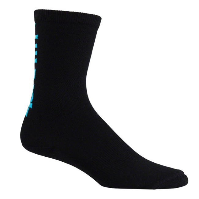 45NRTH Midweight Wool Socks - Black/Blue - Large (Black/Blue)