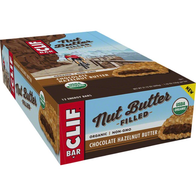 Clif Bar Nut Butter Filled Bars - Chocolate Hazelnut Butter (Box of 12)