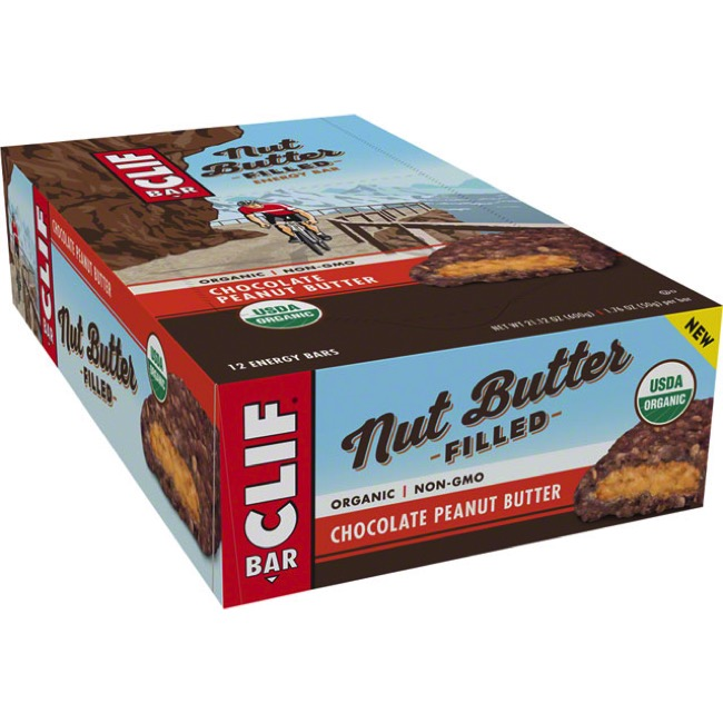 Clif Bar Nut Butter Filled Bars - Chocolate Peanut Butter (Box of 12)