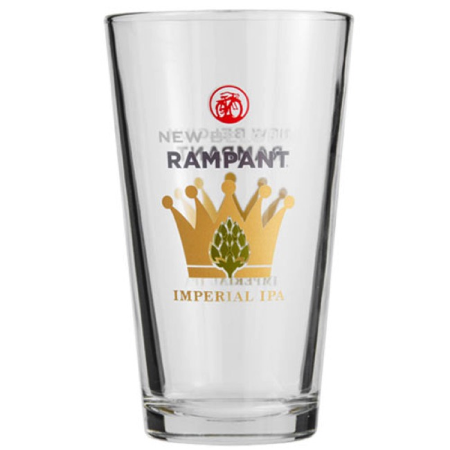 New Belgium Pint Glass - Pint Glass (Clear w/Rampant Imperial IPA Logo)