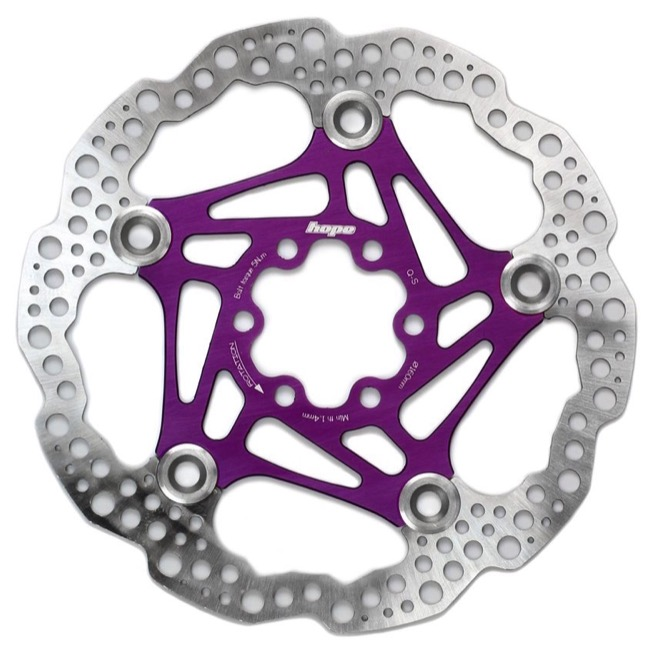Hope Floating 2 Piece Rotors - 203mm 6-Bolt (Purple)