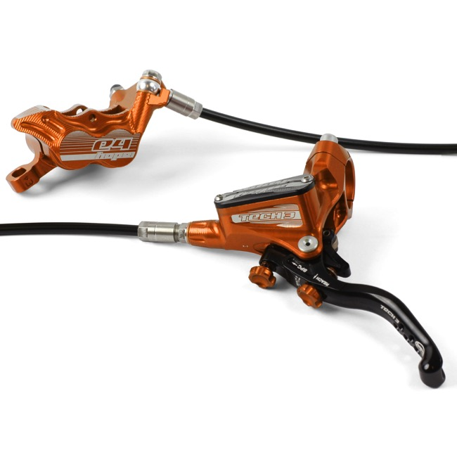 Hope Tech 3 E4 Disc Brakes - Rear Brake (Orange)