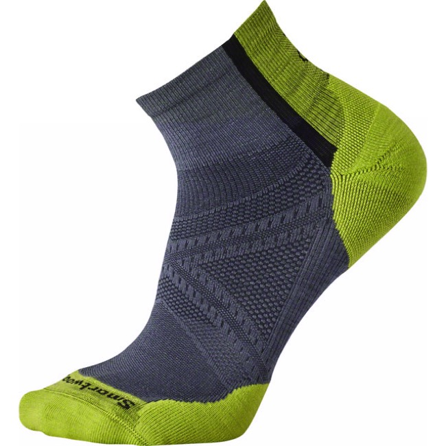 Smartwool PhD Cycle Light Elite Men's Mini Socks - Graphite - Large (Graphite)
