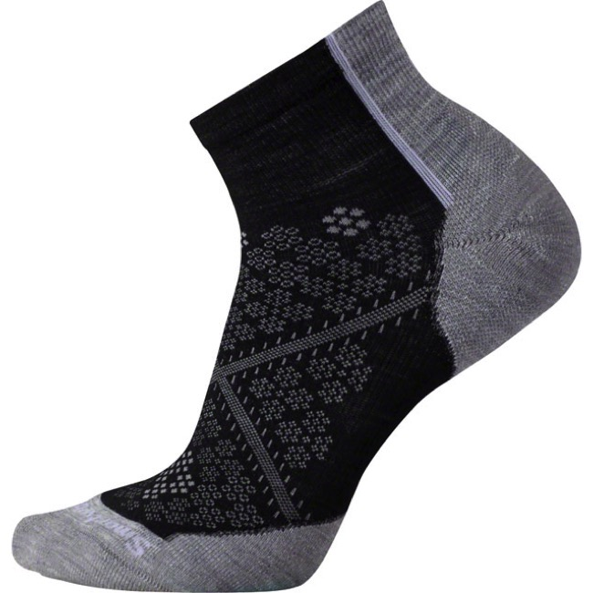 Smartwool PhD Light Elite Women's Low Cut Socks - Black - Large (Black)