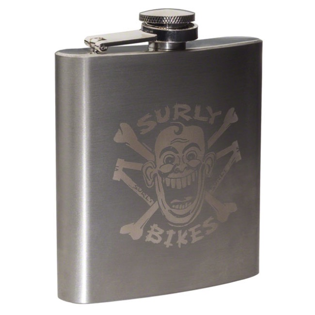 Surly Stainless Hip Flask 2017 - 6 oz. (Stainless Steel)