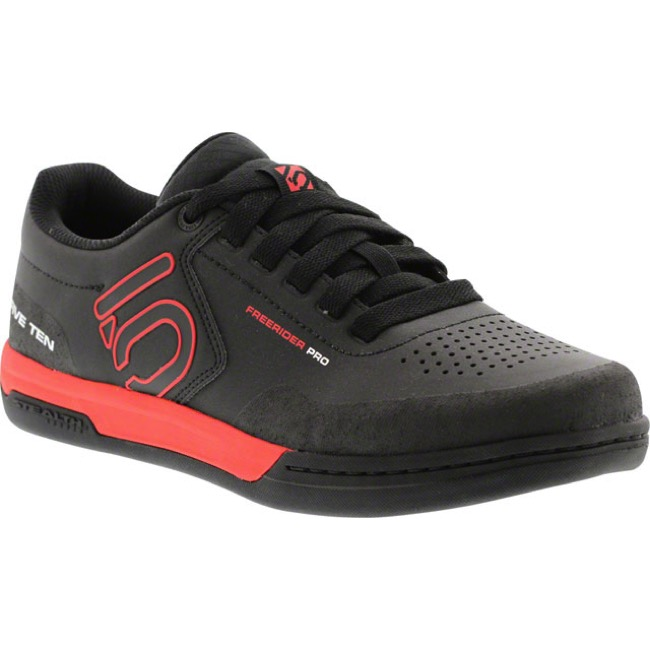 Five Ten Freerider Pro Men's Flat Pedal Shoes - Black/Red - 8 (Black)