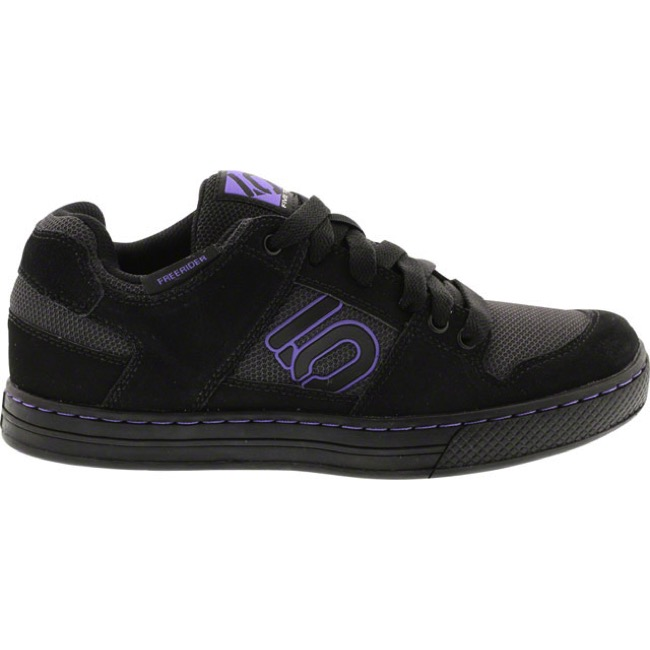 Five Ten Freerider Women's Flat Pedal Shoes - Black/Purple - 8 (Black/Purple)