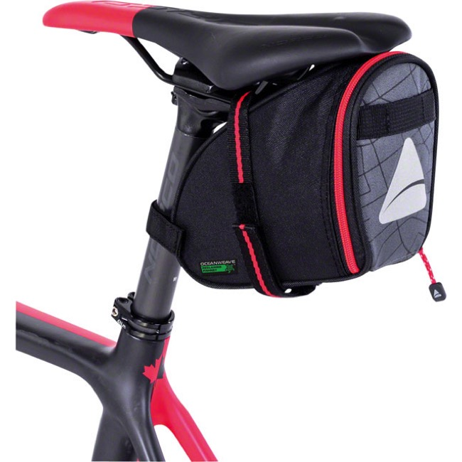 Axiom Seymour Oceanweave Wedge 1.3 Saddle Bag - Grey/Black