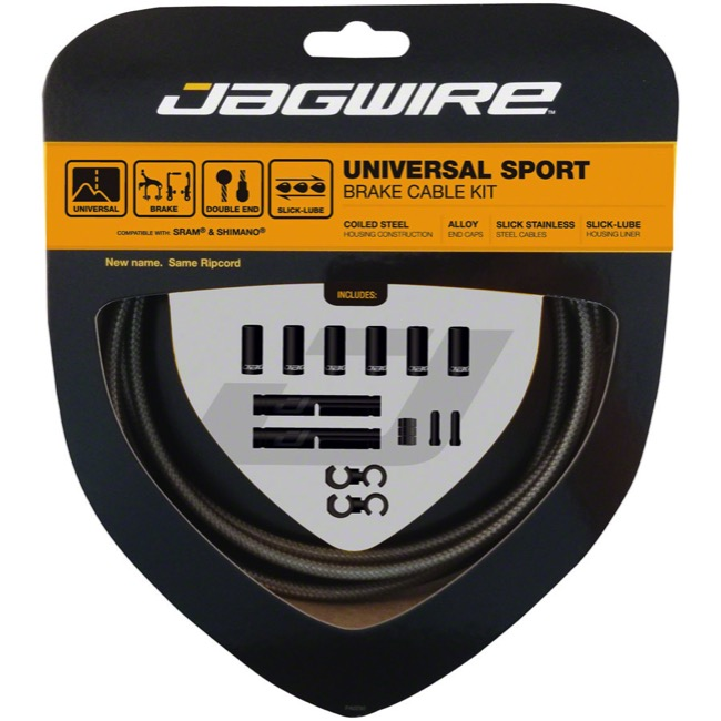 Jagwire Universal Sport Brake Cable/Housing Set - Carbon Silver