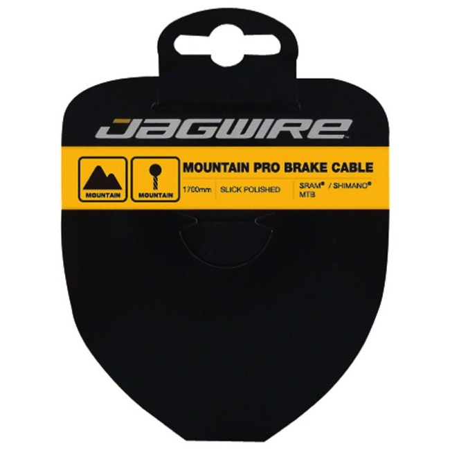 Jagwire Pro Slick Polished Stainless Brake Cables - Polished/Stainless 1700mm (Shimano/SRAM Mountain Only)