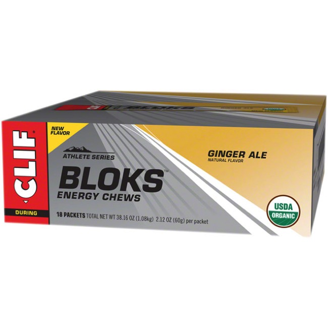 Clif Bar Shot Bloks Energy Chews - Ginger Ale (Box of 18)