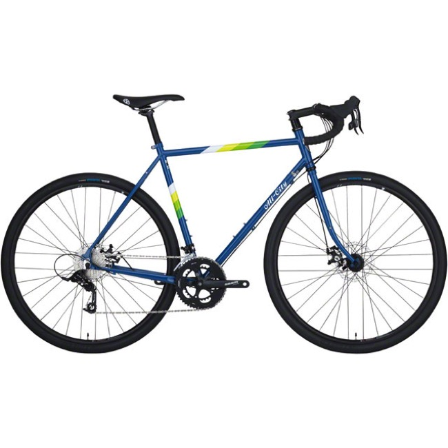 All-City Spacehorse Disc Complete Bike - Blue/White - 61cm, 700c Wheels (Blue/White)