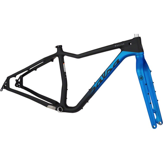 Salsa Mukluk Carbon Frameset 2017 - Black/Blue - Small (Black/Blue)