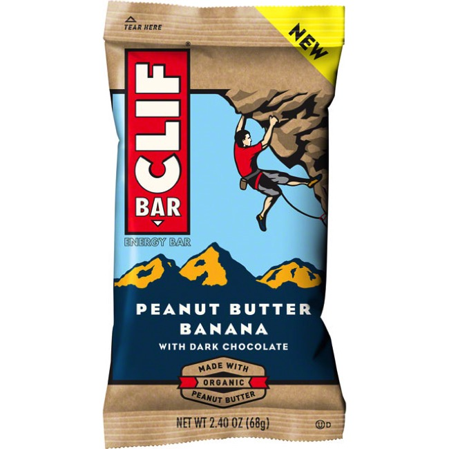 Clif Bar Original Bars - Peanut Butter Banana Dark Chocolate (Box of 12)