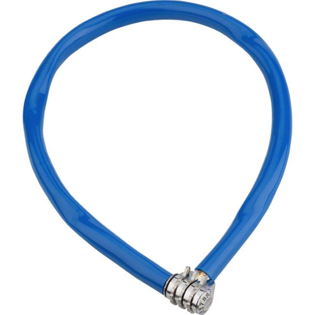 Kryptonite Keeper 665 Combo Cable Lock - 2.13' x 6mm - 2.13' x 6mm (Blue)
