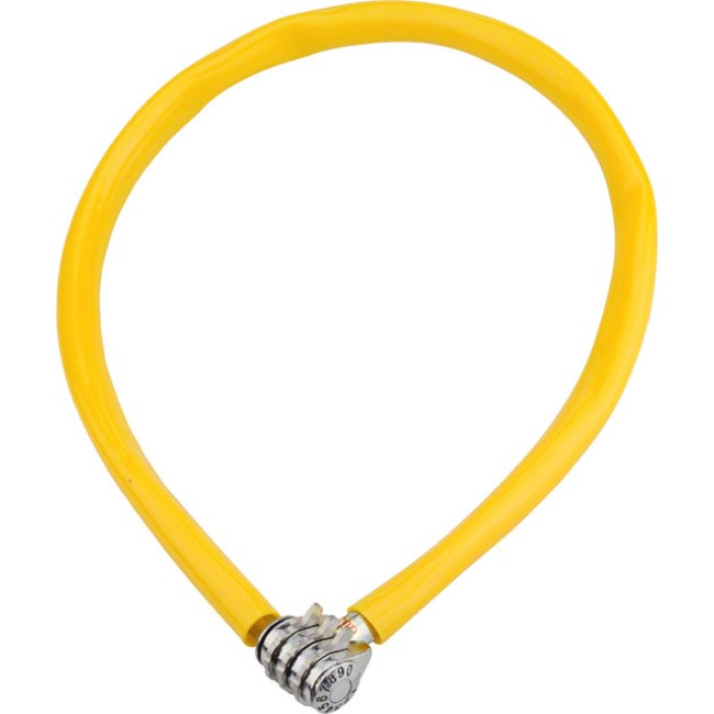 Kryptonite Keeper 665 Combo Cable Lock - 2.13' x 6mm - 2.13' x 6mm (Yellow)