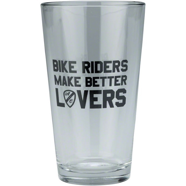 All-City Bike Riders Make Better Lovers Pint Glass - 16 oz (Glass)