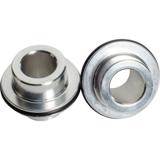 Stans Hub and Wheel Axle Conversion Kits - Front 12x100mm TA End Caps (Front 3.30/3.30Ti Silver Endcap Hubs)