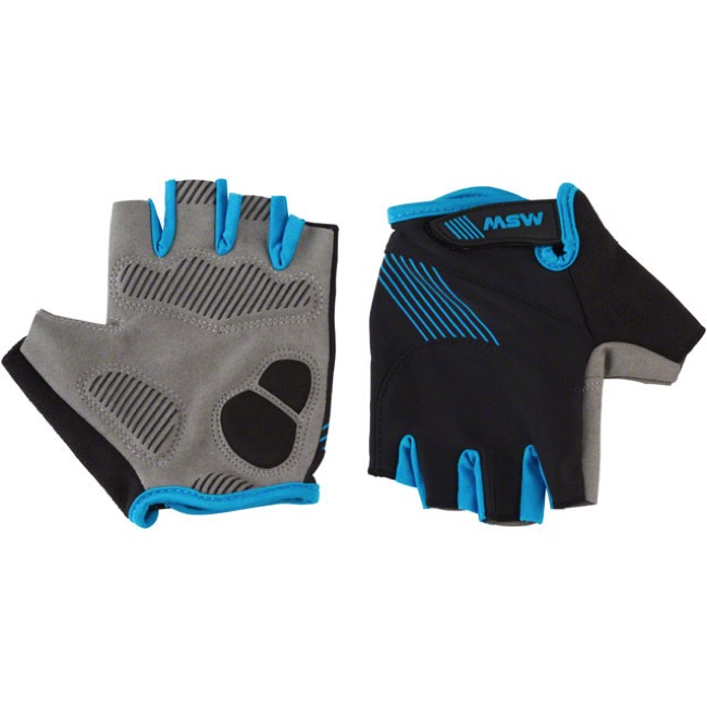 MSW Thumbs Up Short Finger Gloves - Black/Blue - Small (Black/Blue)