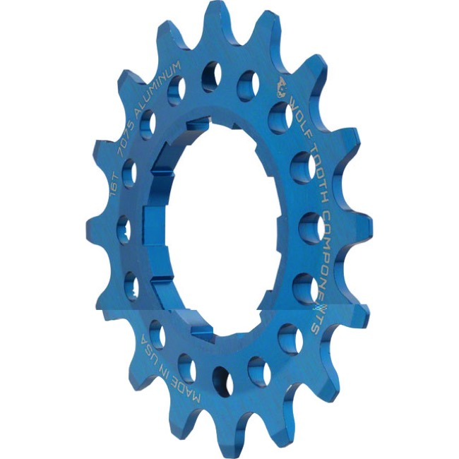 Wolf Tooth Components Single Speed Alloy Cogs - 16 Tooth (Blue)