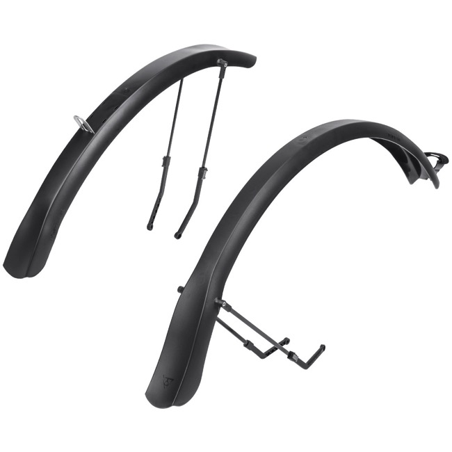 Topeak Defender TX 700c Fender Set - Front and Rear Set (Black)