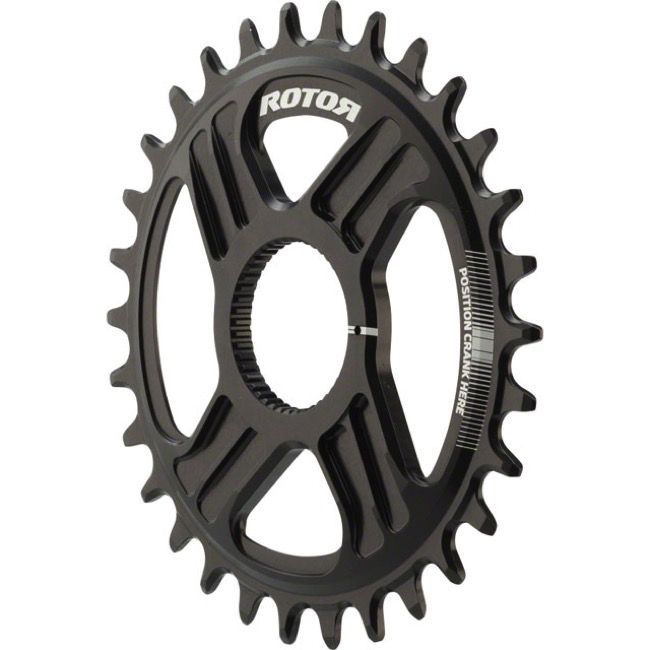Rotor NoQ Direct Mount Round Chainrings - 30t (Black)