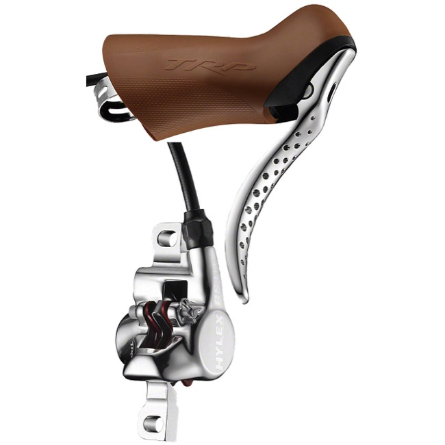 TRP Hylex RS Road Disc Brakes - Front Brake, 1900mm Hose Length, 74mm Post Mount (Silver/Gum)