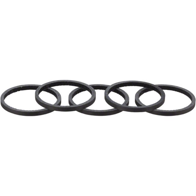 Whisky Parts Co. Carbon Headset Spacer Kits - 2.5mm, 5-Pack (Black Matte)
