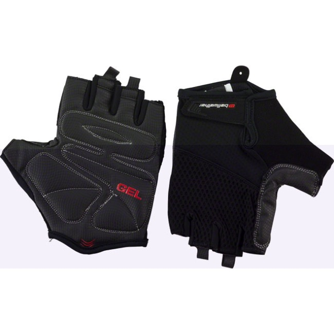 Bellwether Gel Supreme Men's Short Finger Gloves - Black - Large (Black)