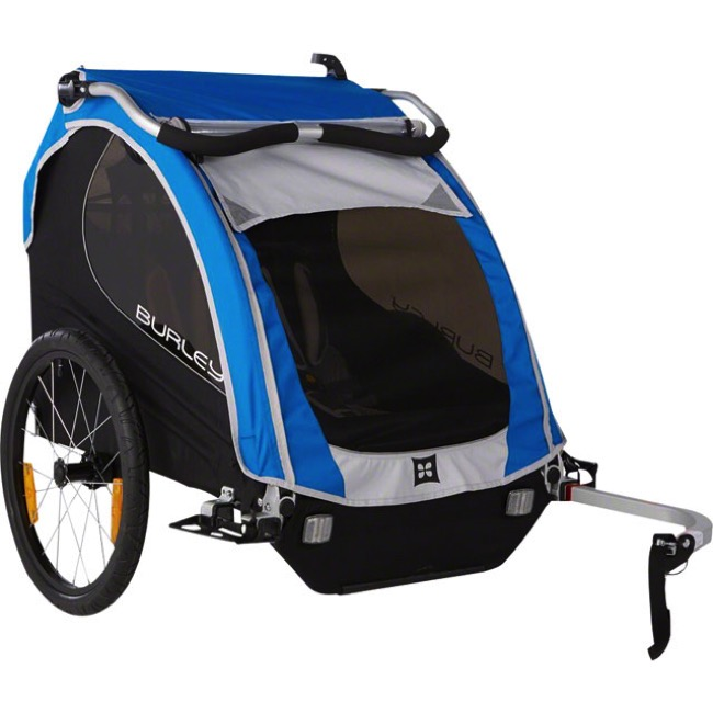 Burley Encore Child Trailer - Blue - Trailer (Blue)