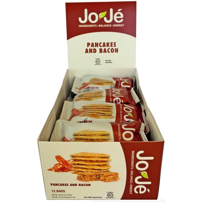 JoJe' Bars - Pancakes and Bacon (Box of 12)