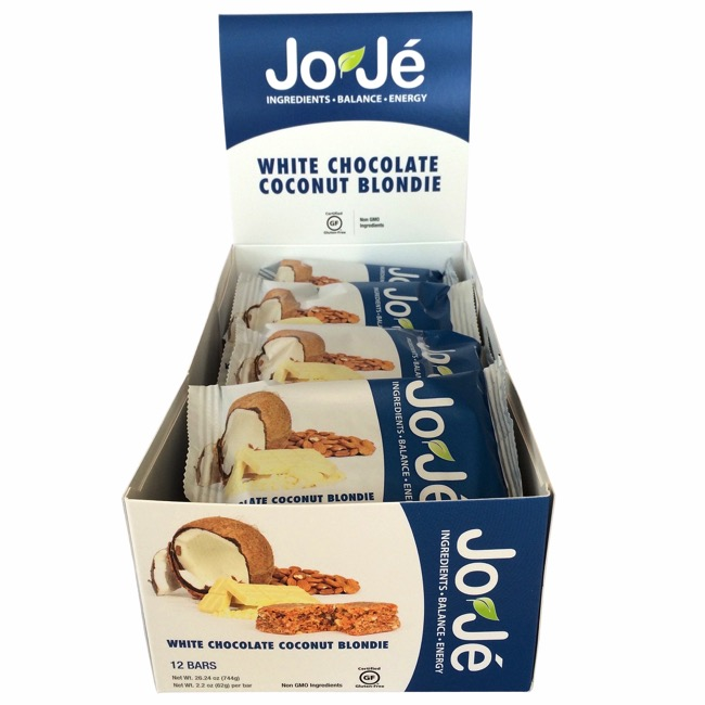 JoJe' Bars - White Chocolate Coconut Blondie (Box of 12)