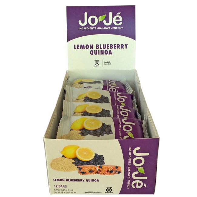 JoJe' Bars - Lemon Blueberry Quinoa (Box of 12)