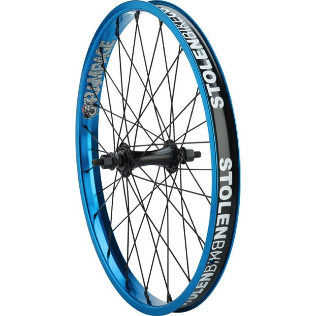 "Stolen Rampage Front Wheels - Front 20"" x 36h x 3/8"" Male Axle (Blue)"