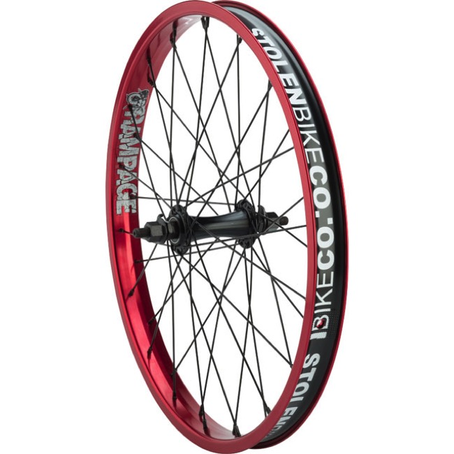 "Stolen Rampage Front Wheels - Front 20"" x 36h x 3/8"" Male Axle (Red)"