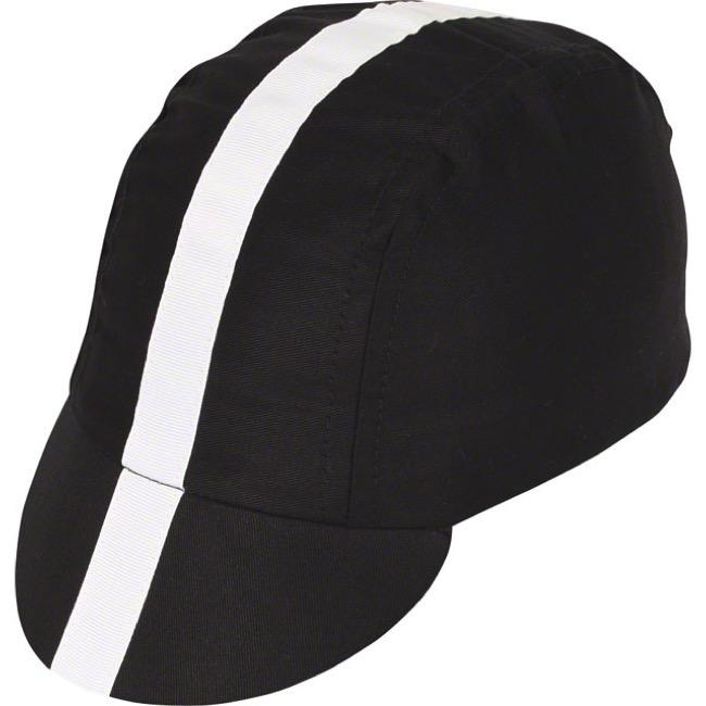 79a66ca9668 Universal Cycles -- Pace Classic Cycling Cap - Black w  White Stripe ...