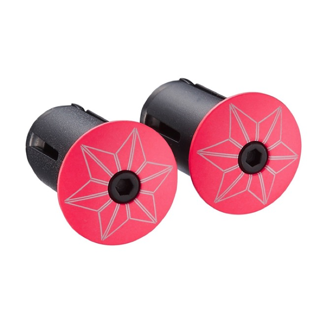 Supacaz Star Plugz - Pair (Powder Coated Hot Pink)