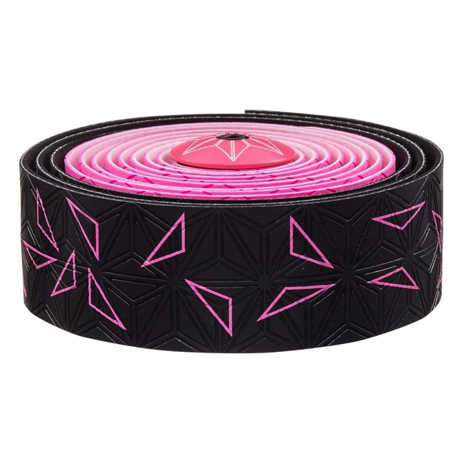 Supacaz Super Sticky Kush Bar Tape - Starfade Black and Pink