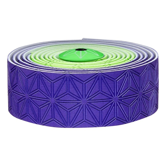 Supacaz Super Sticky Kush Bar Tape - Neon Green and Purple