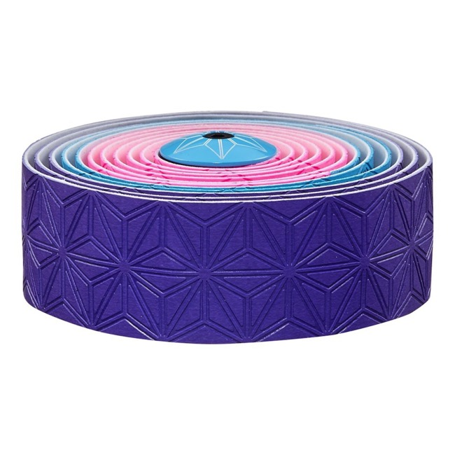 Supacaz Super Sticky Kush Bar Tape - Neon Pink/Blue/Purple