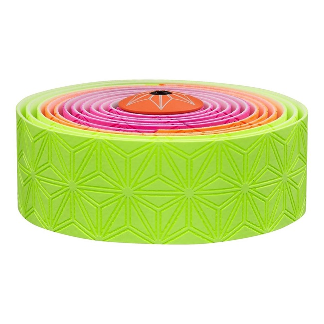 Supacaz Super Sticky Kush Bar Tape - Neon Yellow/Orange/Pink