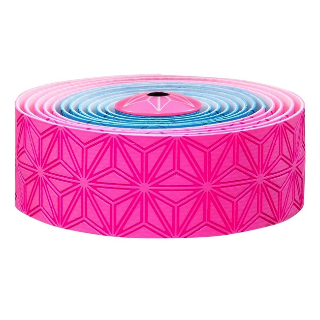 Supacaz Super Sticky Kush Bar Tape - Neon Pink and Blue