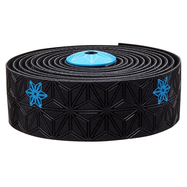 Supacaz Super Sticky Kush Bar Tape - Galaxy Black w/Neon Blue