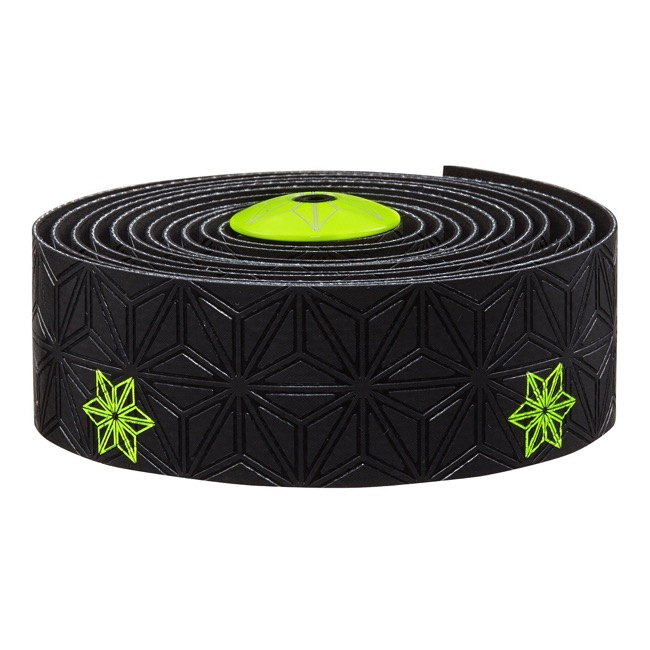 Supacaz Super Sticky Kush Bar Tape - Galaxy Black w/Neon Yellow
