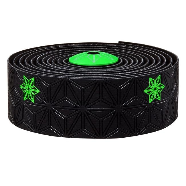 Supacaz Super Sticky Kush Bar Tape - Galaxy Black w/Neon Green