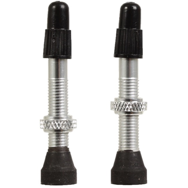 Industry Nine Torch Tubeless Valve Stems - 39mm Valve, Pair (Silver)