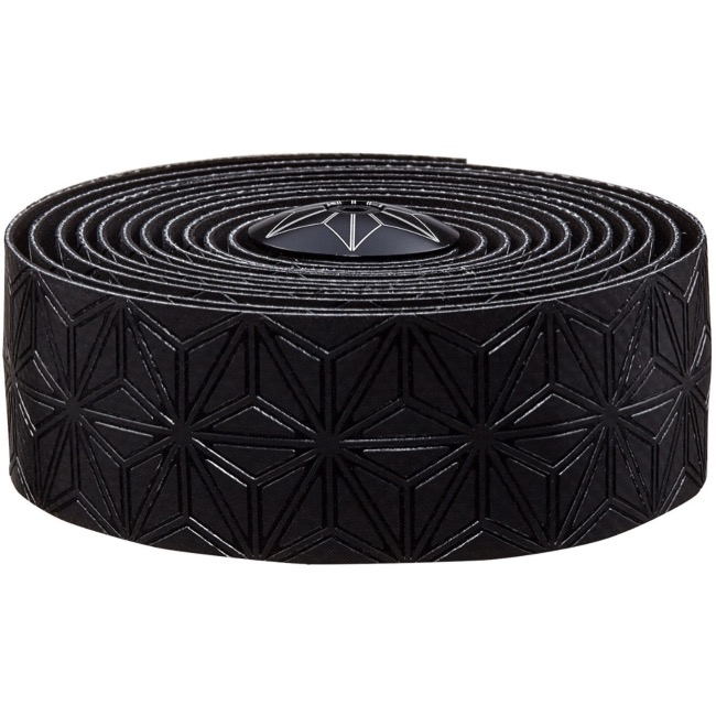 Supacaz Super Sticky Kush Bar Tape - Black w/Black Plugs