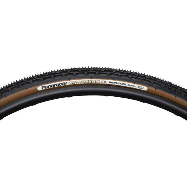 Panaracer GravelKing SK Tubeless Ready Tires - 700 x 43c, Folding Bead (Black Tread/Brown Sidewall)